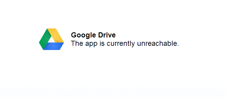 Drive is down